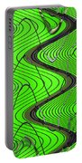 Green Grass Behind The Fence Portable Battery Charger