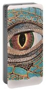 Green Iguana Eye Portable Battery Charger