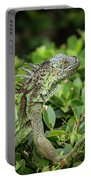 Green Iguana Vertical Portable Battery Charger