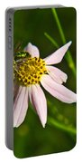 Green Iridescent Bee Portable Battery Charger