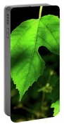 Green Is The Mulberry Leaf Portable Battery Charger
