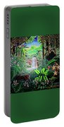 Green Jewel Jungle Portable Battery Charger