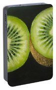 Green Kiwi Oil Painting  Portable Battery Charger