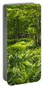 Green Landscape Of Summer Foliage Portable Battery Charger