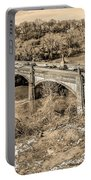 Green Lane Bridge In Sepia - Manayunk Portable Battery Charger