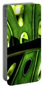 Green Leave With Holes Portable Battery Charger