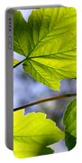 Green Leaves Portable Battery Charger by Carlos Caetano