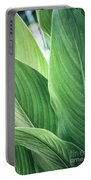 Green Leaves No. 2 Portable Battery Charger by Todd Blanchard