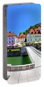 Green Ljubljana Riverfront Panoramic View Portable Battery Charger