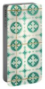 Green Lucky Charm Lisbon Tiles Portable Battery Charger