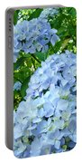 Green Nature Landscape Art Prints Blue Hydrangeas Flowers Portable Battery Charger
