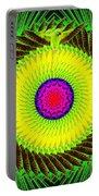 Green Parrot Mandala Portable Battery Charger