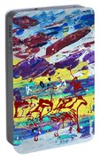Green Pastures And Purple Mountains Portable Battery Charger