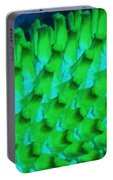 Green Pattern Abstract Portable Battery Charger