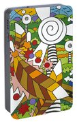 Green Power Portable Battery Charger by Rojax Art