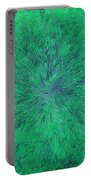 Green Radation With Violet  Portable Battery Charger