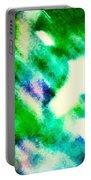 Green Rain Abstract Portable Battery Charger