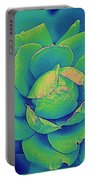 Green Rose Pop Art Portable Battery Charger