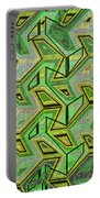 Green Steps Abstract Portable Battery Charger