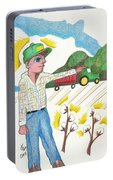 Green Tractor Hat Portable Battery Charger