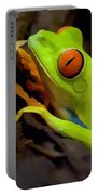 Green Tree Frog Portable Battery Charger