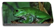 Green Tree Frog With A Smile Portable Battery Charger