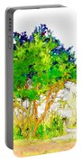 Green Trees By The Lake Portable Battery Charger