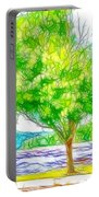 Green Trees By The Water 3 Portable Battery Charger