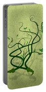Green Vine And Butterfly Portable Battery Charger