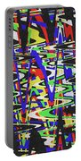 Green Yellow Blue Red Black And White Abstract Portable Battery Charger