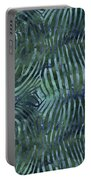 Green Zebra Print Portable Battery Charger
