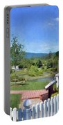 Greenbrier County Historical Marker In Alderson West Virginia Portable Battery Charger