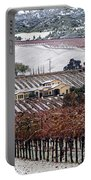 Greenville Vineyard In Snow Portable Battery Charger