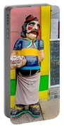 Greeter At Pizzeria In La Boca Area Of Buenos Aires-argentina- Portable Battery Charger