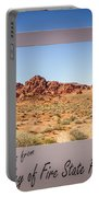 Greetings From Valley Of Fire Portable Battery Charger