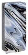 Grey And Black Metal Marbling Effect Abstract Portable Battery Charger