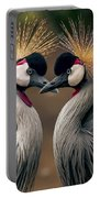 Grey Crowned Cranes Of Africa Portable Battery Charger
