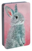 Grey Easter Bunny Portable Battery Charger