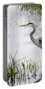 Grey Heron #3 Portable Battery Charger