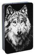 Grey Wolf Portable Battery Charger by Melodye Whitaker