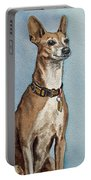 Greyhound Commission Painting By Irina Sztukowski Portable Battery Charger