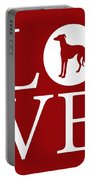 Greyhound Love Red Portable Battery Charger