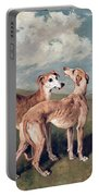 Greyhounds Portable Battery Charger by John Emms