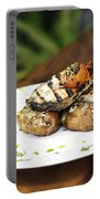 Grilled Fish With Roast Potato Herbs And Garlic Portable Battery Charger