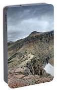 Grinnell Glacier Overlook Panorama - Glacier National Park Portable Battery Charger