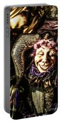 Grinning Mardi Gras Jester Portable Battery Charger