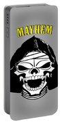 Grinning Mayhem Death Skull Portable Battery Charger