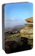 Gritstone Rocks On Hathersage Moor, Derbyshire County Portable Battery Charger