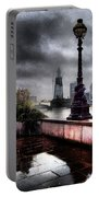 Gritty Urban London Landscape Portable Battery Charger