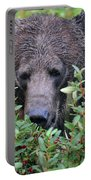 Grizzly In The Berry Bushes Portable Battery Charger
